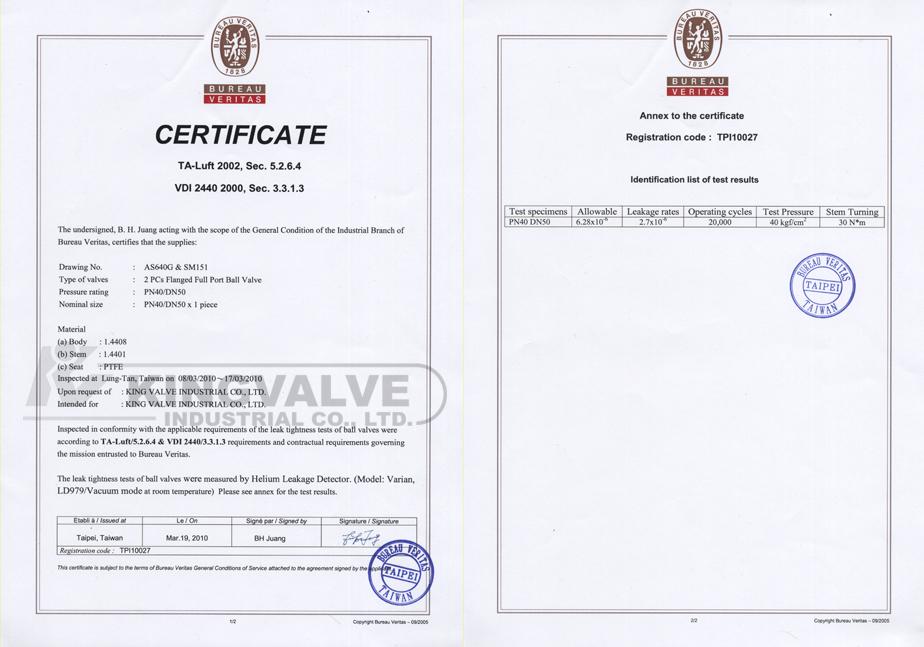 Kingvalve Industrial Co Ltd